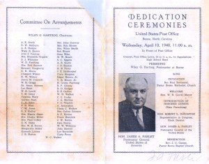 Pamphlet from 1940 Dedication