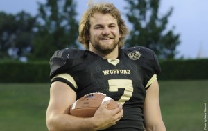 Former Watauga High star and Wofford fullback Eric Breitenstein finished third in the Walter Payton Award voting. Photo courtesy of Wofford Media Relations