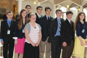 Grace Academy ninth graders attending TeenPact, March 25-28, 2013,  include: Brett Haas, Kenzie Chasteen, Tristen Fitzpatrick, Jenna Reece, Camden Ballard, Elijah Temple Roby Lesesne, Graham Blust and Alex Haney.