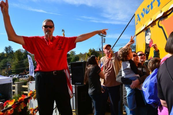 Tommy Burleson, the High Country's most famous basketball player, volunteers with Woolly Worm Festival in Banner Elk in October 2016. Photo by Todd Bush