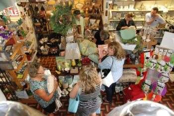 Customers shop the inventory liquidation sale at Shannon's Curtain, Bed and Bath. Photo by Ken Ketchie.