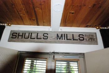 Owner Chip Caviness has preserved many architectural details that tell the story of the town of Shulls Mills.