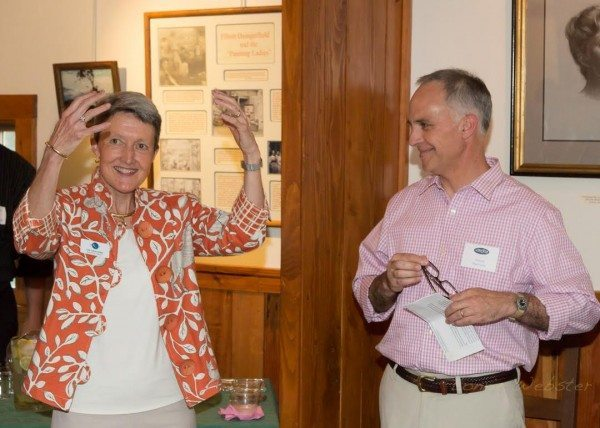 Blowing Rock Historical Society welcomes Lee Carol Giduz, Executive Director of BRAHM ( Blowing Rock Art History Musum at a reception in the Edgewood Cottage