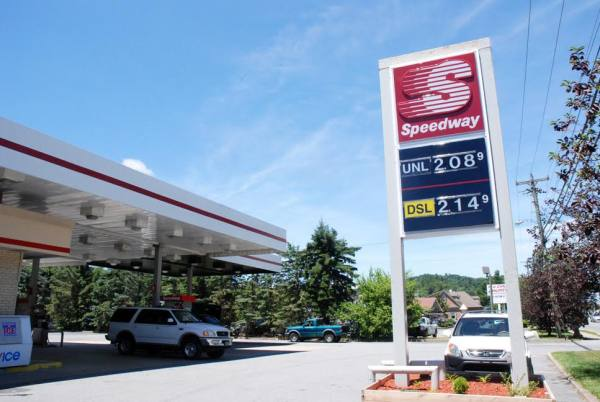 The Speedway on N.C. 105 in Boone is selling gas for $2.08 per gallon on Friday. Photo by Ken Ketchie