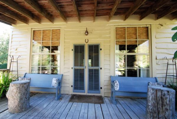 The front porch of the general store.