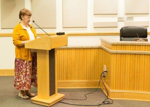 Bobbie Byrd during public comment