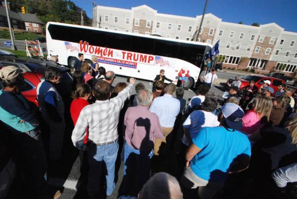 Election season brought the Women for Trump bus tour and Chelsea Clinton to Boone.