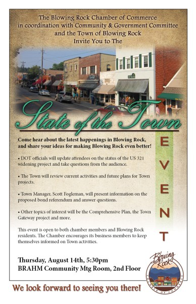 State of Town flyer - Click to enlarge