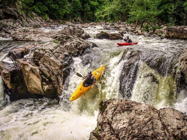 """Stateline Falls - Watauga River Race 2014"" by William Mauney"
