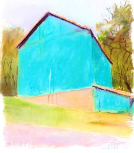 """Green Barn"" painted by Wolf Kahn in 2003"