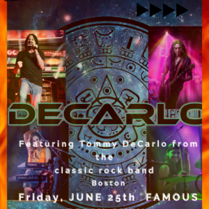 Boston Lead Singer Tommy DeCarlo Playing a Free Show at Famous Brick Over Pizzeria on Friday Evening