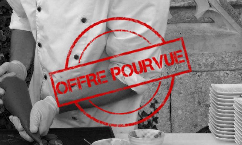 Offre d'emploi : chef cuisinier Traiteur