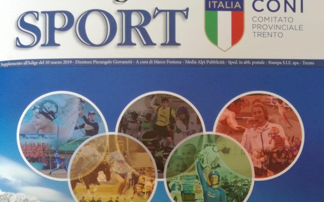 """Lo sport in Trentino e i giovani nell'inserto CONI de """"l'Adige"""": ci siamo anche noi!"""