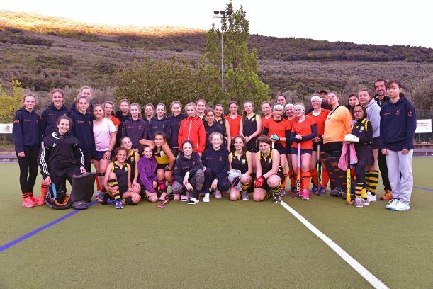 Scatti dall'amichevole con le ragazze dell'Hockeyclub Heilbronn