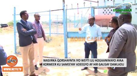 Wasiirka Qorshaynta Somaliland Oo Kormeeray Adeegyo Ay Hirgalisay Dawladu.