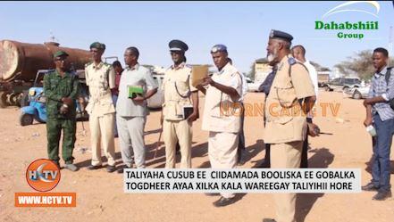Taliyaha Cusub Ee Ciidamada Police Ka Gobolka Togdheer Oo Xilkii La Wareegay.