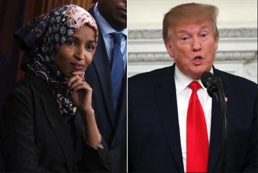 Trump Oo Weerarkii Ugu Cuslaa Ku Qaaday Ilhaan Cumar