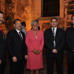 Freddy Dominguez, Fabiola Medina, Tony Delgado y Oscar Peña