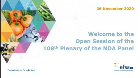 Διαδικτυακή Ημερίδα της EFSA: 108 NDA Open Plenary meeting, 26 Νοεμβρίου 2020