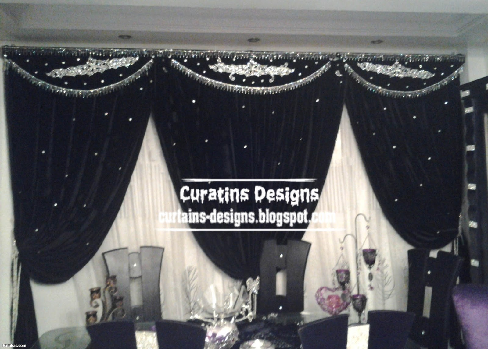 Silver And Black Valances 4 Wide Wallpaper