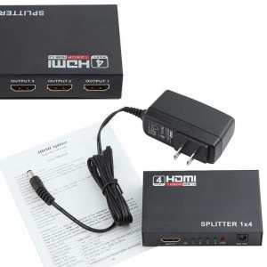 4K x 2K UltraHD (uHD) HDMI 1x4 Splitter (4 outputs), 3D, HDMI v1.4 - Up to 3840 x 2160 Resolution
