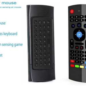 MX3 2.4G Wireless Six Axis Gyroscope Keyboard IR Remote Control Air Mouse with IR Learning (Learn ANY Remote onto this remote)
