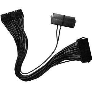 Dual ATX Power Supply Combiner Cable - 24 Pin Secondary Dual PSU Adapter / Secondary PSU Starter Cable (Used for Bitcoin/Ethereum Mining Rigs Machines)