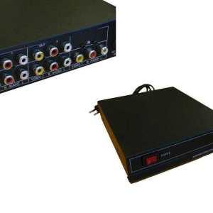 1x4 (4-Way) Active / Powered Composite / RCA Splitter