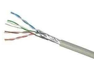 Price per Meter - CAT6 STP Pure Copper Ethernet Cable (solid core with braiding) up to 1Gb/s - Gray