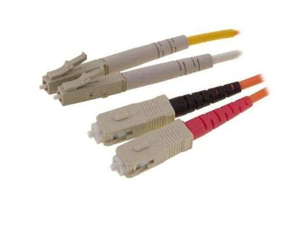 2 Meter SC to LC Duplex Multimode 50/125 Fiber Optic Patch Cable - Krone