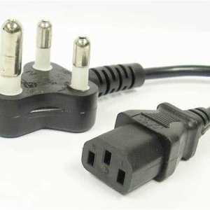 1.5 Meter PC / HDTV Power Cable 3-Pin SA Electrical Plug to Kettle Cord / IEC Plug (C13 Plug)