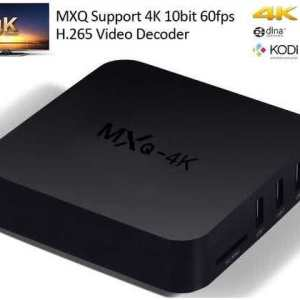 MXQ UltraHD 4K Media Player Quad-Core CPU with H.265 Streaming Android 6.0 or Newer (Wifi/LAN/Bluetooth/Miracast/ScreenCast/Smart View Support)