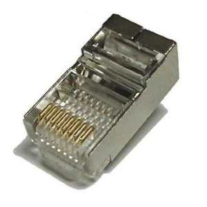 CAT5e / CAT6 Shielded Connector + Boot 23-26AWG Cable up to 0.57mm conductor