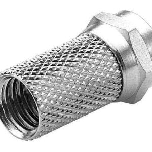 Twist-On FType / F-Connector (For use with RG6U cables) - Nickel Plated
