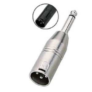 XLR Male to 6.35mm Mono Male Jack Adapter