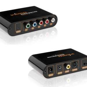 YPbPr / Component to Composite (Yellow RCA) and S-Video video converter w/Down Scaler
