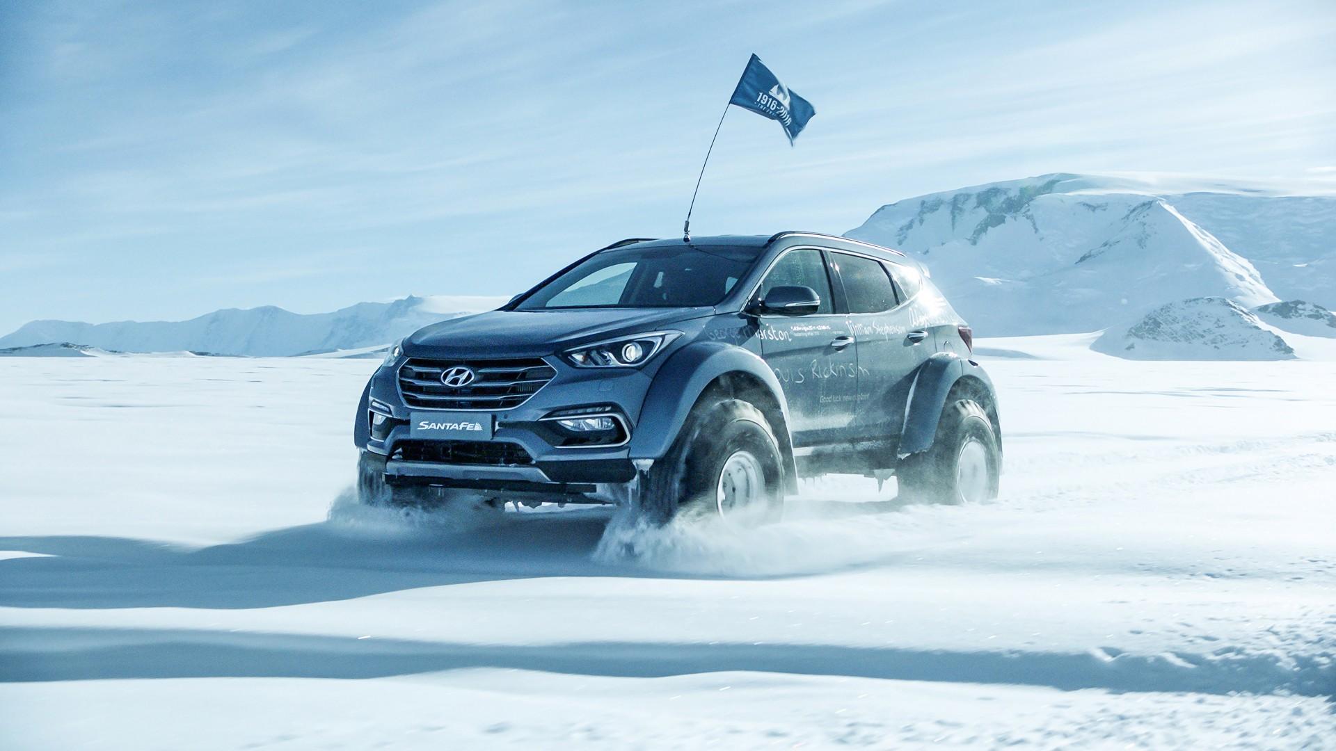 How does the honda crosstour compare to the hyundai santa fe? 2017 Arctic Trucks Hyundai Santa Fe Wallpaper   HD Car