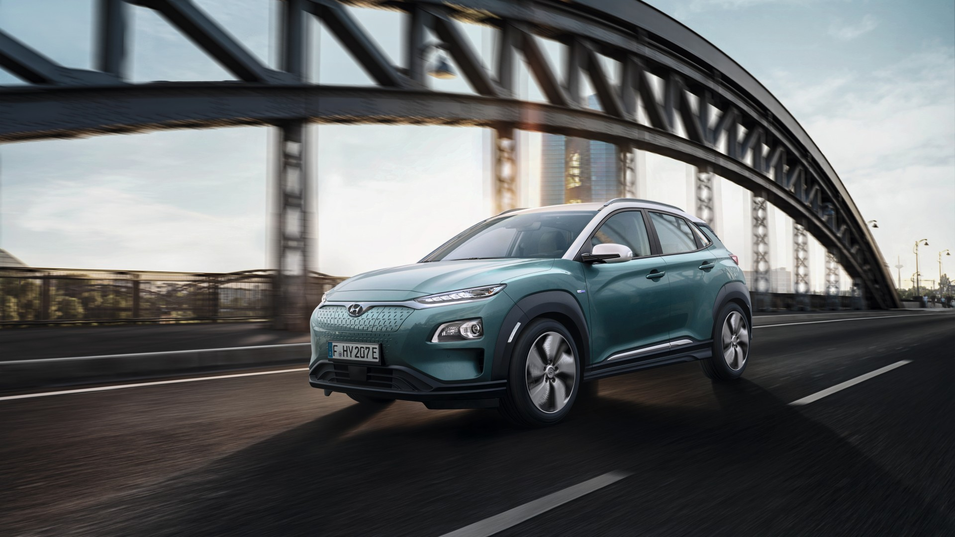 2018 Hyundai Kona Electric 4K Wallpaper HD Car