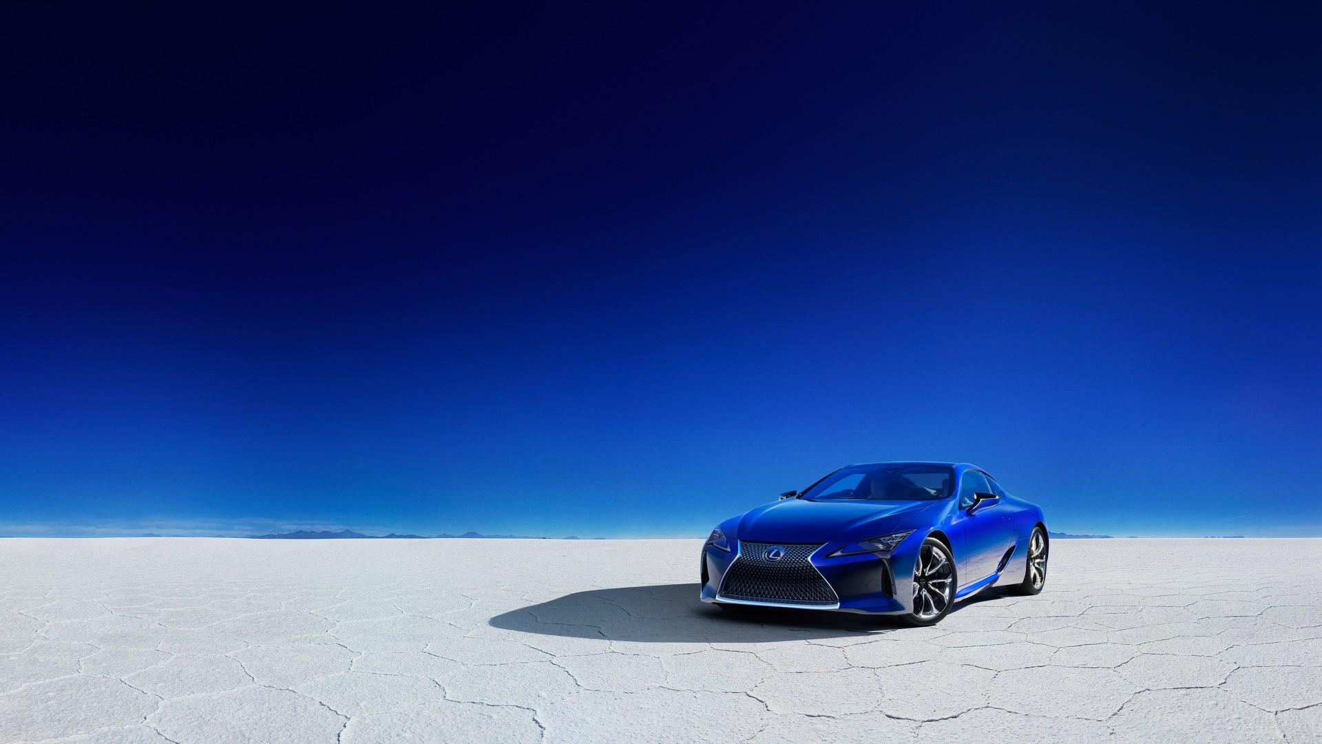 2018 Lexus LC 500h Structural Blue 4K Wallpaper HD Car