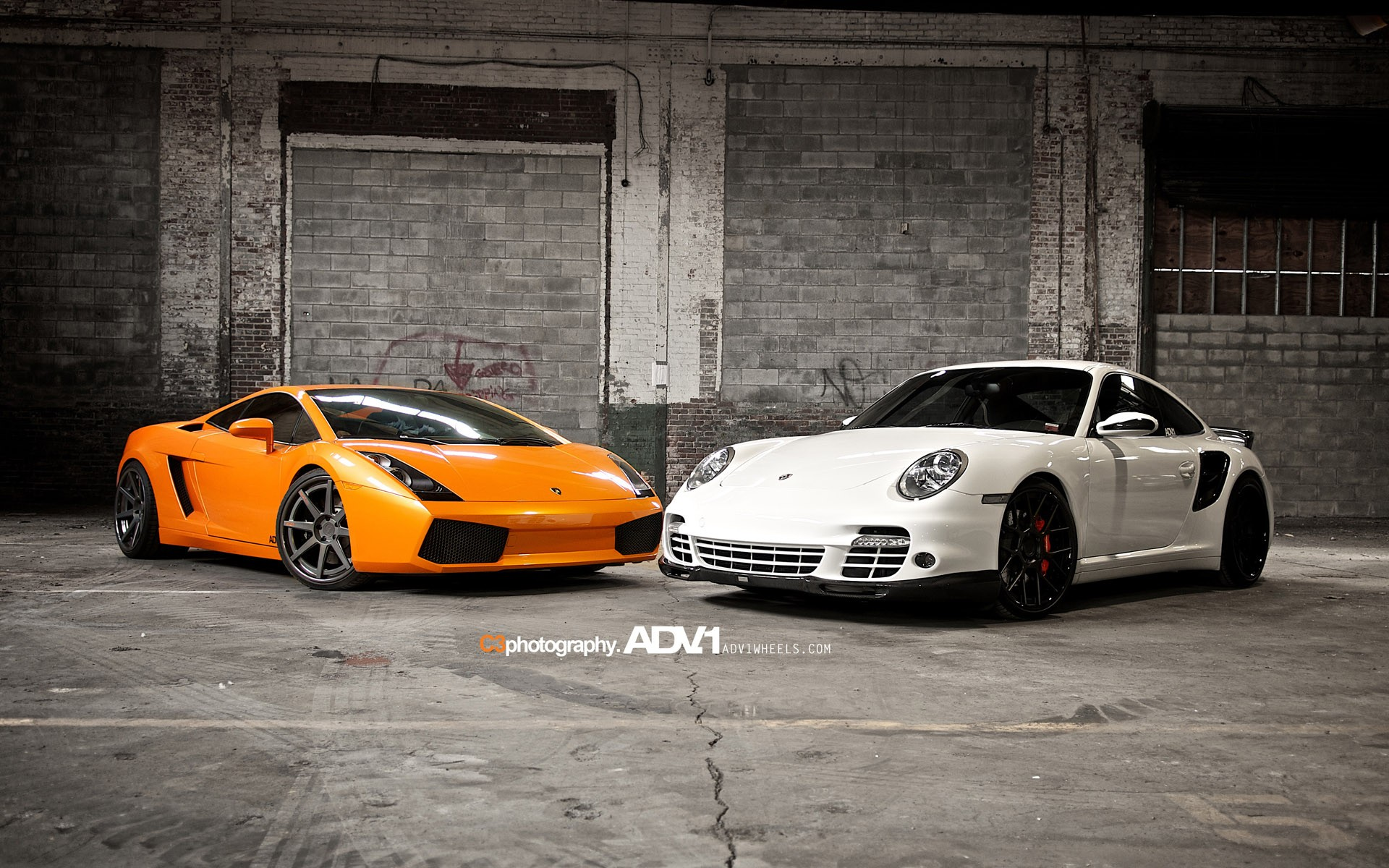 Lamborghini Gallardo And Porsche 997 TT Wallpaper HD Car