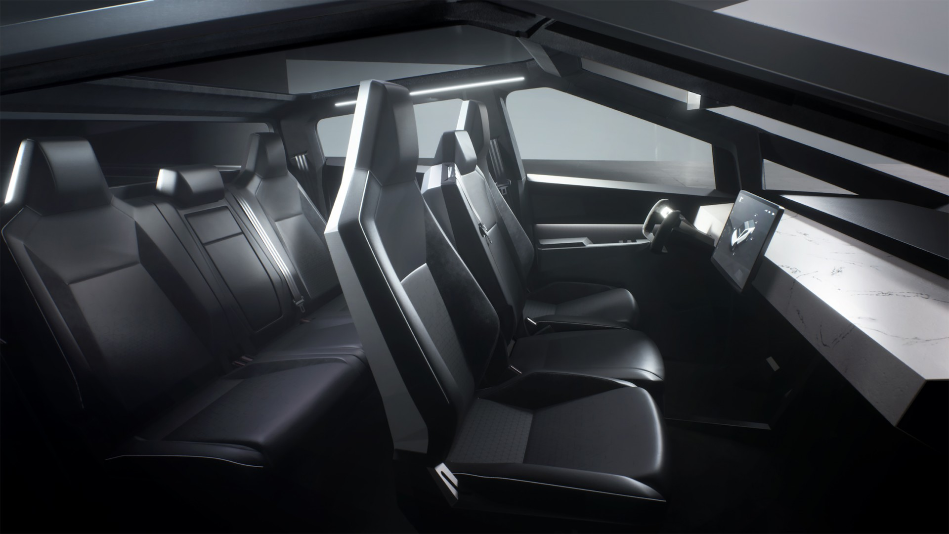I don't own any tesla stock, nor do i derive any income from tesla's success. Tesla Cybertruck Prototype 2019 Interior Wallpaper   HD