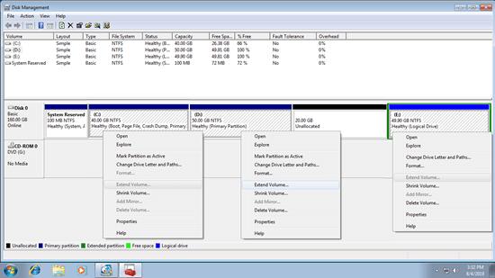擴展系統分區的詳細步驟 Windows 7 32/64位。