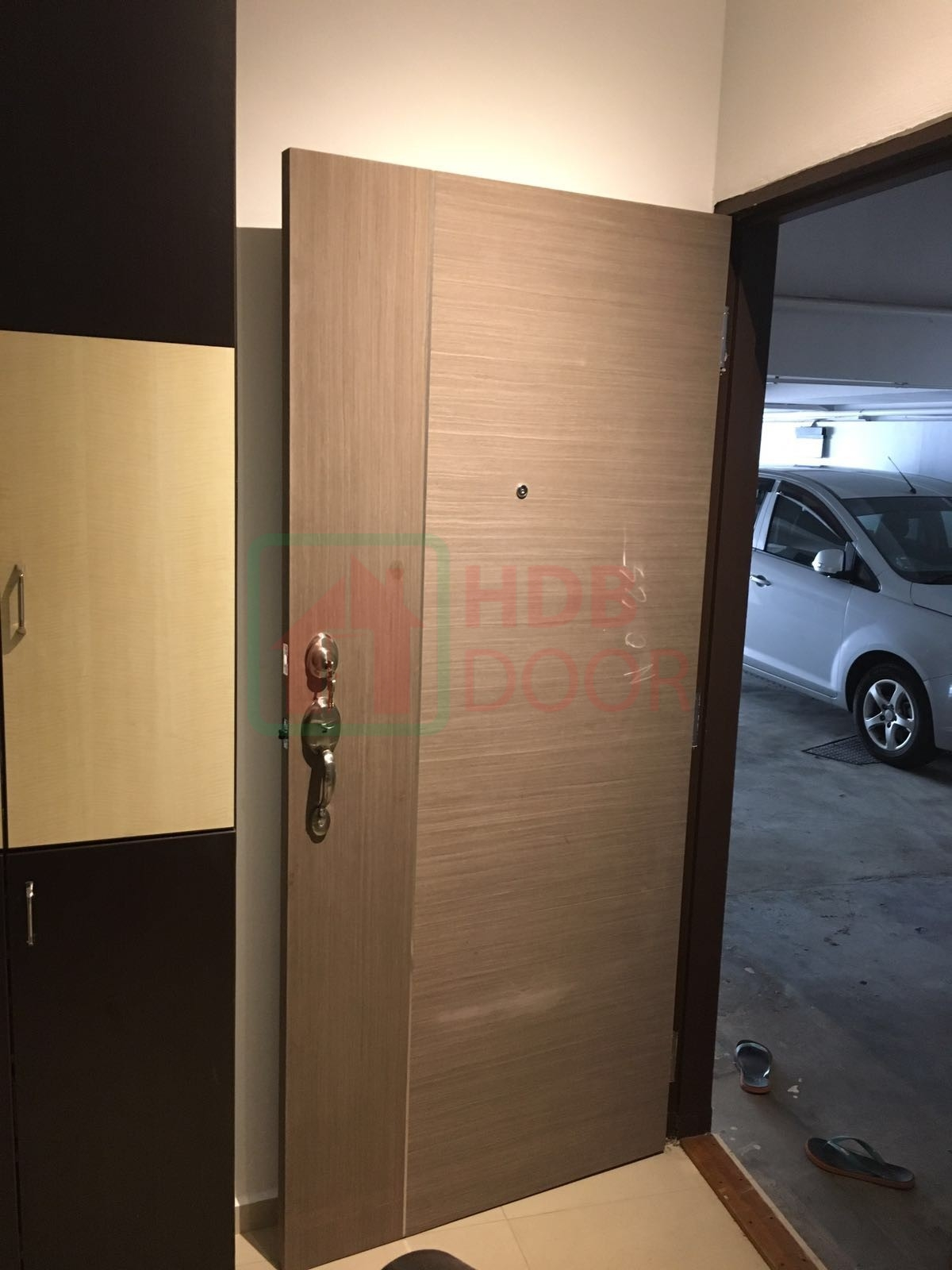 hdb single leave fire rated main door with normal lock
