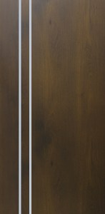 Bedroom Door with Stainless Steel Inlay Strips