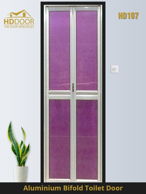HD107 toilet bifold door