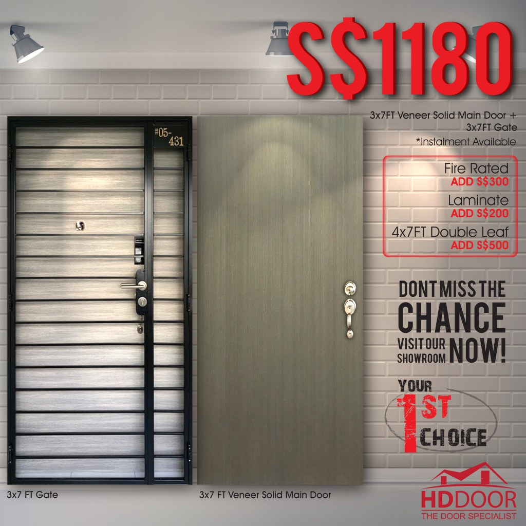 Veneer Door & Gate Promotion