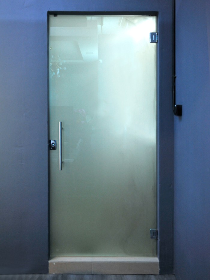 Frosted Tempered Glass Swing Door