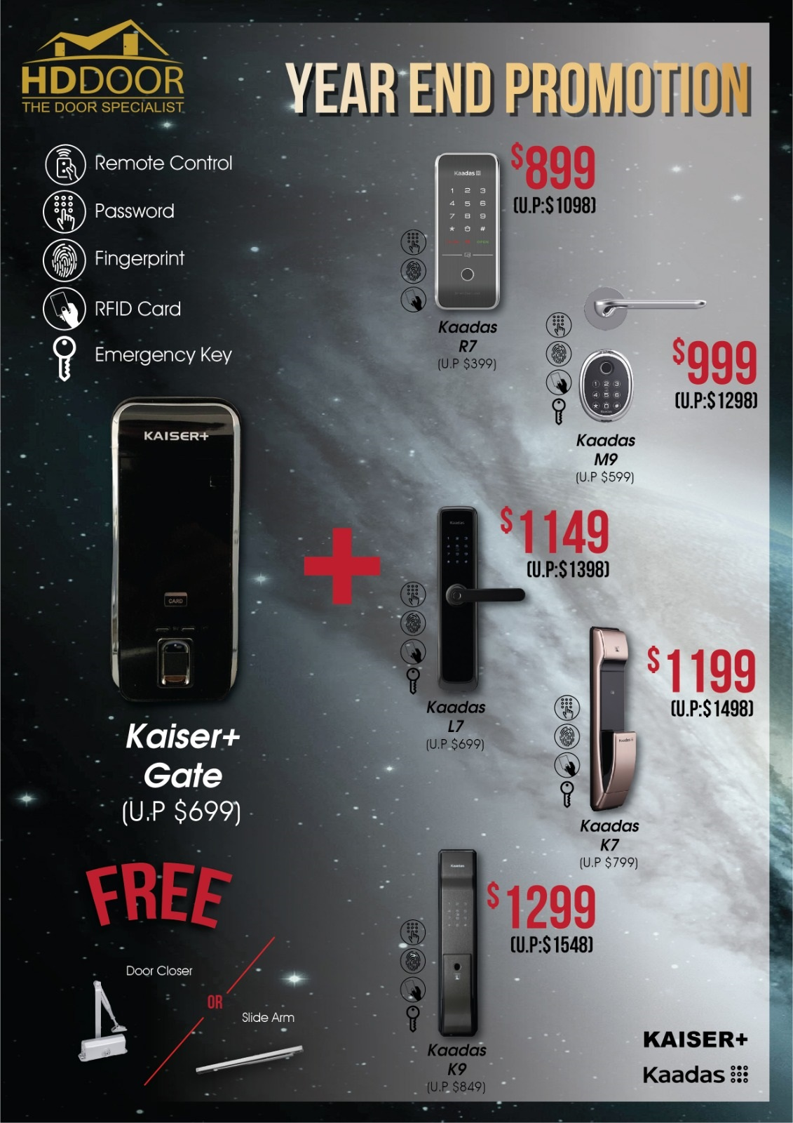Digital lock Year end promotion sale Singapore 2019
