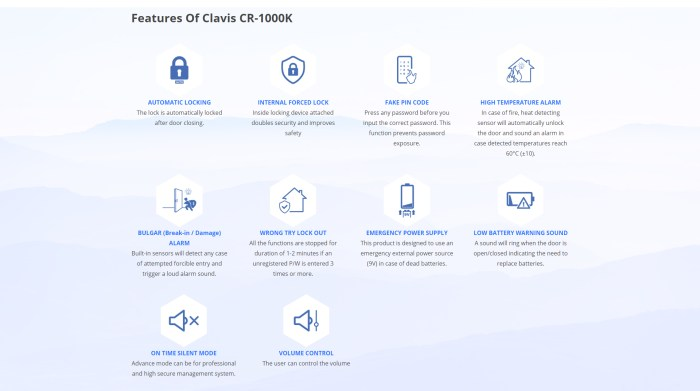 Features of CR-1000K
