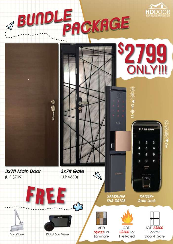 Samsung DR708 Kaiser gate digital lock bundle promotion 2020 singapore